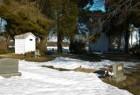 Church Yard with Winter Snow