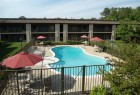Comfort Inn pool area.