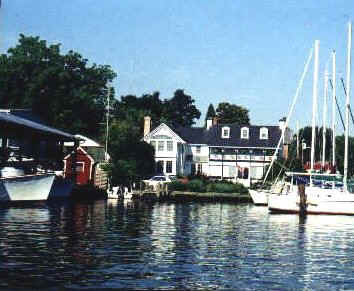 Hambleton Inn viewed from the water.