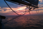 Sunset on Lady Patty Yacht